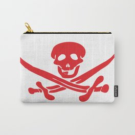 Red flag of Jolly Roger with swords Carry-All Pouch