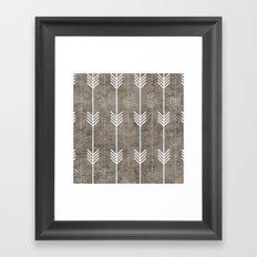 dirty arrows Framed Art Print