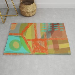 Shapes and Layer no.8 - Abstract painting Rug