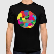 happy colour ball Black Mens Fitted Tee MEDIUM