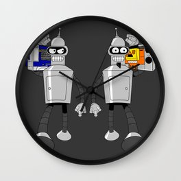 The Future of Good and Evil Wall Clock