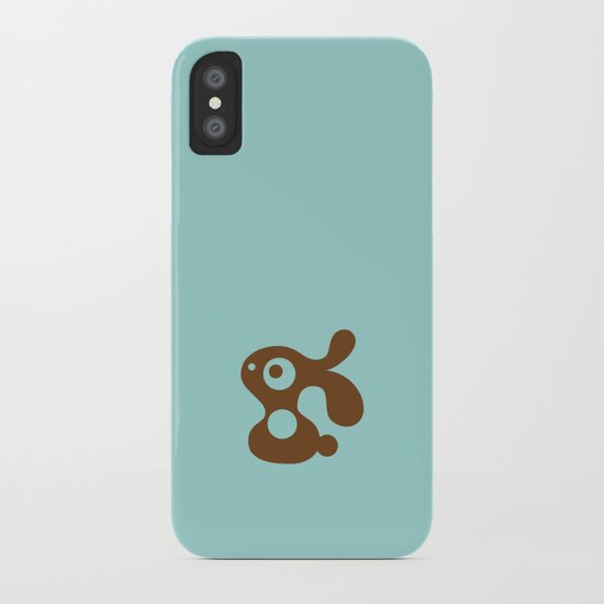 Blue Bunny iPhone Case