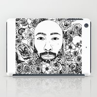 caleb troy iPad Cases featuring PHOENIX AND THE FLOWER GIRL PHOENIX TROY FLOWER PRINT by Phoenix and the Flower Girl