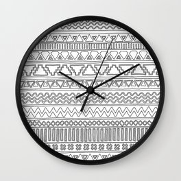 Keef Black and White Wall Clock