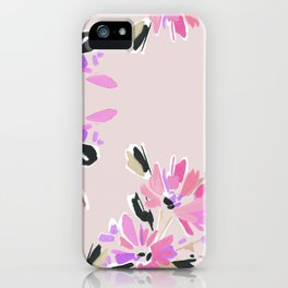 Mod Floral in Pink iPhone Case
