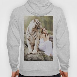 White Tiger from Bengal | Tigre blanc du Bengale Hoody
