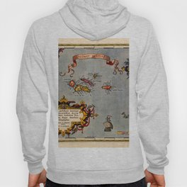 Map Of The Azores 1606 Hoody