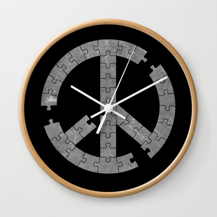 Puzzle Peace Wall Clock