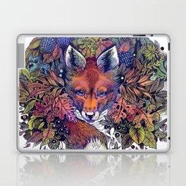 Hiding fox rainbow Laptop & iPad Skin