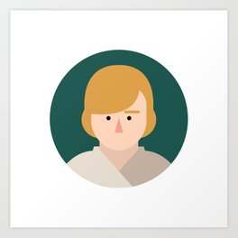 Luke Skywalker Art Print
