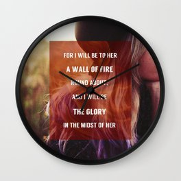 WALL OF FIRE Wall Clock