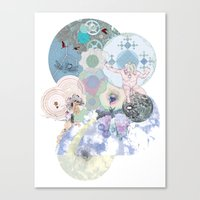 atheist Canvas Prints featuring Death of the Invisible Space Teapot by Hindbrain Design