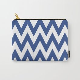 Team Spirit Chevron Blue and White Carry-All Pouch