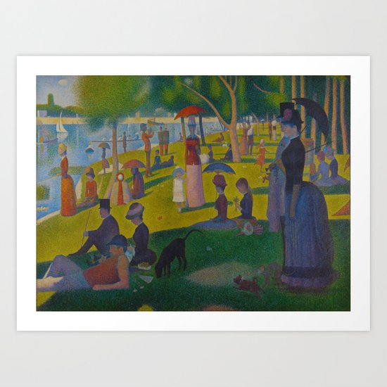 A Sunday Afternoon on the Island of La Grande Jatte Painting by Georges Seurat Pointillism by enshape