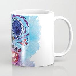 Watercolor Day of the dead sugar skull. Mexican skull illustration. Coffee Mug