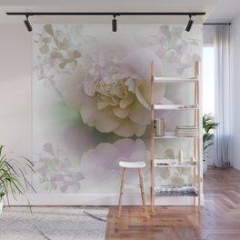 Romantic Camellia / floral design in soft color tones Wall Mural