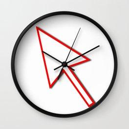 Cursor Arrow Mouse Red Line Wall Clock