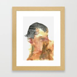 His Profile Framed Art Print