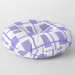 Retro Purple Plaid Pattern Floor Pillow
