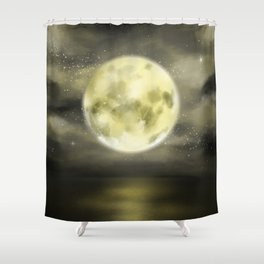 dear moon Shower Curtain