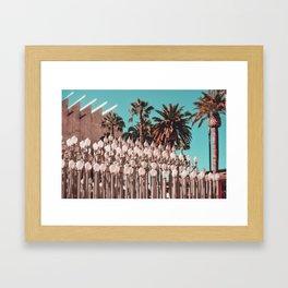Urban Lights Los Angeles Museum of Art Framed Art Print