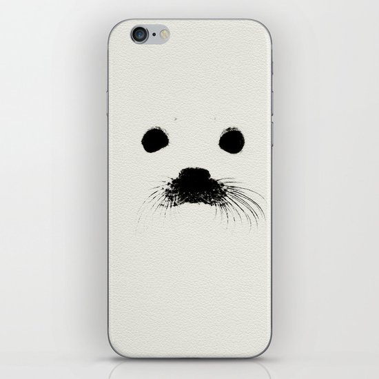 Seal your face in leather iPhone & iPod Skin