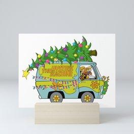 Scooby Do Mystery Machine Merry Christmas Velma Fred Daphnie Shaggy Mini Art Print