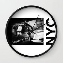 taxi N.Y Wall Clock