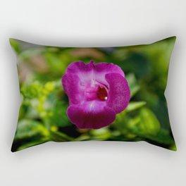 Amethyst Torenia Flower Macro Rectangular Pillow