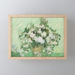 Vase with Pink Roses by Vincent van Gogh Framed Mini Art Print