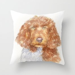 Cockapoo portrait Throw Pillow