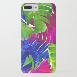 Colorful tropical leaves iPhone Case
