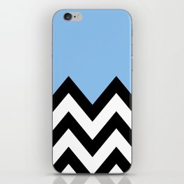 BLUE COLORBLOCK CHEVRON iPhone Skin