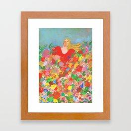 Blending with flowers Framed Art Print
