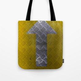 Industrial Arrow Tread Plate - Up Tote Bag