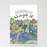 washington dc Stationery Cards featuring Washington DC by Brooke Weeber