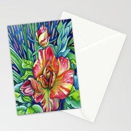 Joseph's Coat - Expressive Flower Art in Acrylic Stationery Cards