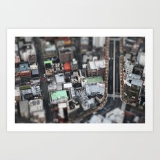 Vue aérienne Art Print