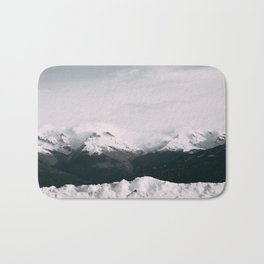 Mountain relief Alps Bath Mat