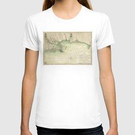 Map of Louisiana and Florida Gulf Coast (1778) T-shirt