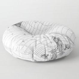 asc 660 - La route des origines (Bab alhaya) Floor Pillow