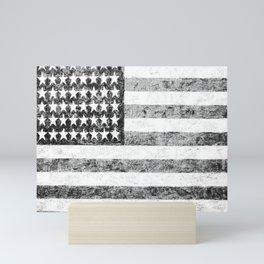 Grunge American Flag Mini Art Print