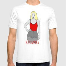 Iggy Art. Mens Fitted Tee White SMALL