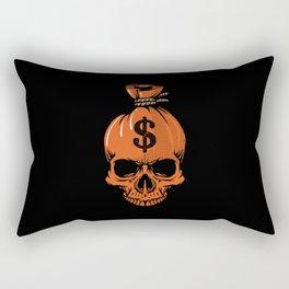 Dollar Skull Scary Gift Rectangular Pillow