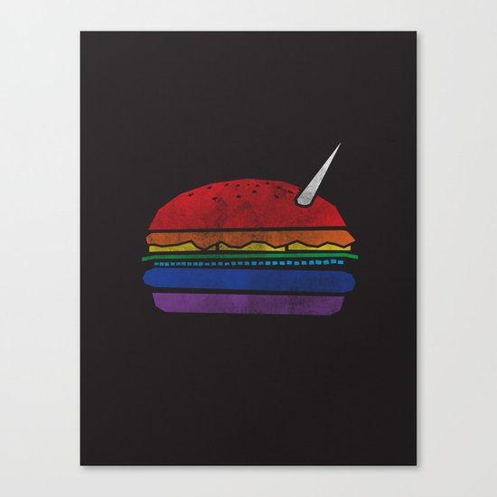 The Last Unicorn Burger Canvas Print