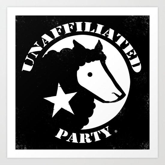 UNAFFILIATED PARTY STENCIL Art Print