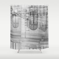 dream theory Shower Curtains featuring city chaos theory by monicamarcov