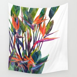 The bird of paradise Wall Tapestry