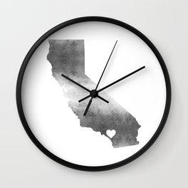 Orange County California Love Wall Clock