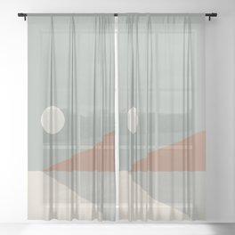 Geometric Landscape 03 Sheer Curtain